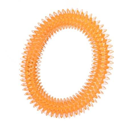 "Best Pet TPR Dental Ring Dog Toy - 6.5"" in Orange"