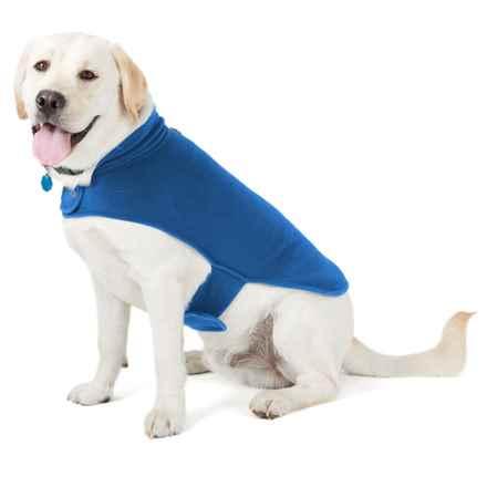 Best Pet Voyager Fleece Dog Coat in Blue - Closeouts