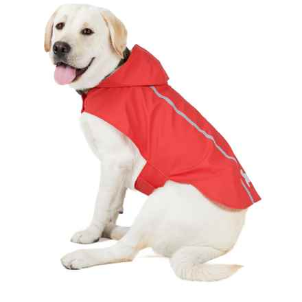 Best Pet Voyager Reflective Rain Coat for Dogs in Red - Closeouts