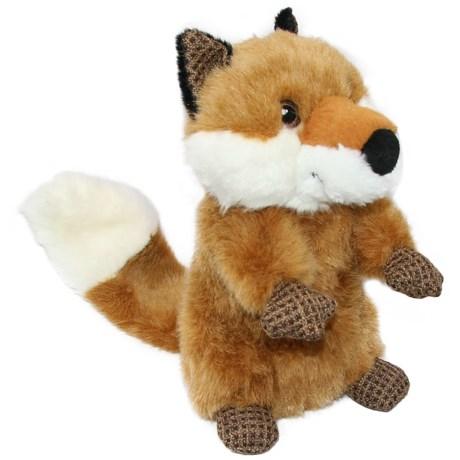 Best Pet Woodland Critters Fox Dog Toy in Orange/White