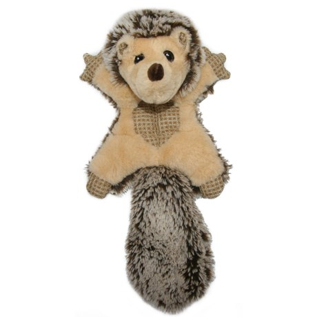 Best Pet Woodland Critters Hedgehog Mat Dog Toy - Squeaker in Brown