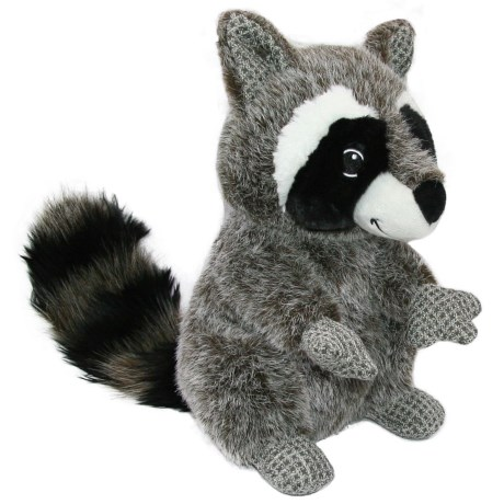 Best Pet Woodland Critters Raccoon Dog Toy - Squeaker in Grey
