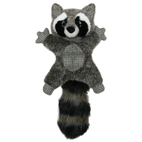 Best Pet Woodland Critters Raccoon Mat Dog Toy - Squeaker in Grey