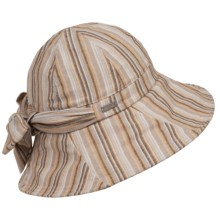 Betmar Abby Sun Hat with Bow - UPF 50+ (For Women) in Natural Stripe - Closeouts