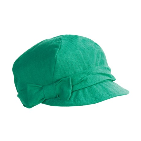 Betmar Bow Cap (For Women) in Golf Green