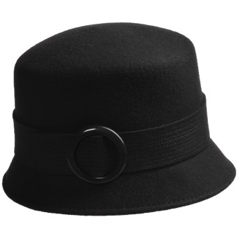 Betmar Buckle Cloche Hat (For Women) in Black