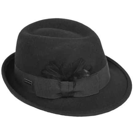 Betmar Celine Fedora - Wool, Pinch Front (For Women) in Black - Overstock
