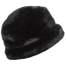 Betmar Cervinia Faux-Fur Bucket Hat (For Women) in Black - Closeouts