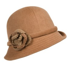 Betmar Deina Floral-Trim Bucket Hat (For Women) in Camel - Closeouts