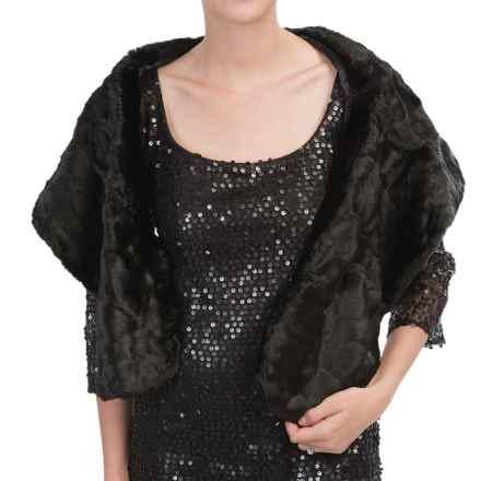 Betmar Faux-Fur Stole (For Women) in Arctic Black - Closeouts