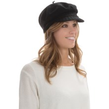 Betmar Faye Mau Cap - Wool Blend (For Women) in Black - Overstock