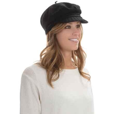 Betmar Faye Mau Cap - Wool Blend (For Women) in Black - Overstock