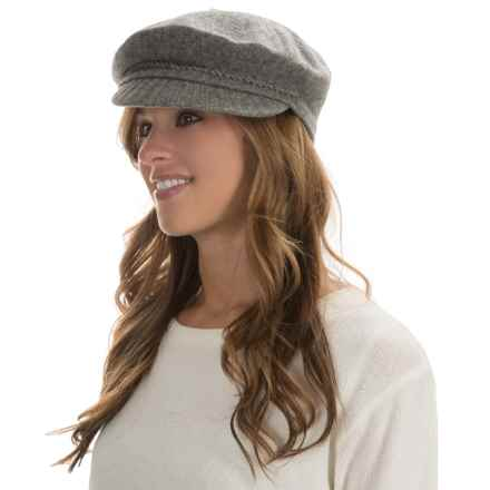 Betmar Faye Mau Cap - Wool Blend (For Women) in Charcoal Heather - Overstock