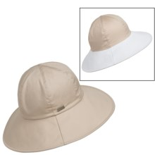 Betmar Gemma Reversible Sun Hat - UPF 50+ (For Women) in Khaki/White - Closeouts