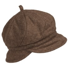 Betmar Hawthorne Newsboy Hat (For Women) in Chocolate - Closeouts