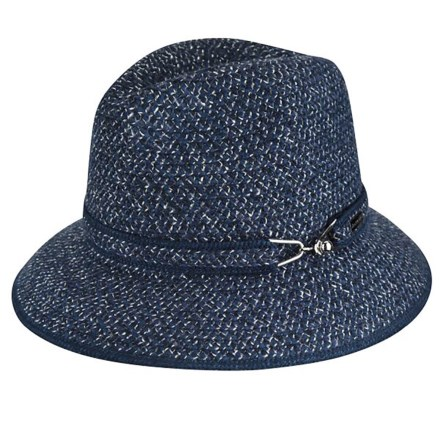 Betmar Hudson Fedora (For Women) in Navy Multi - Closeouts 950cbd7f0c75