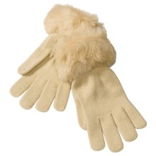 Betmar Knit Gloves with Faux Fur Cuffs (For Women) in Camel - Closeouts