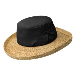Betmar Linen-Raffia Beach Hat (For Women) in Black