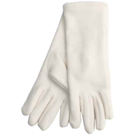 Betmar Longer Fleece Gloves (For Women) in Ivory - Closeouts