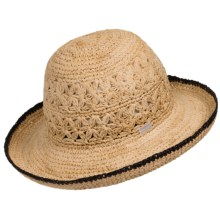 Betmar Lupita Sun Hat (For Women) in Natural/Black - Closeouts