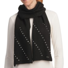 Betmar Madison Luxe Knit Scarf - Sequinned (For Women) in Black - Closeouts