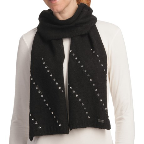 Betmar Madison Luxe Knit Scarf - Sequinned (For Women) in Black