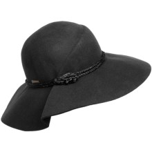 Betmar Maple Wool Felt Hat - Floppy Brim (For Women) in Black - Closeouts