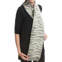 Betmar Mercer Stripe Scarf (For Women) in Grey Heather - Closeouts
