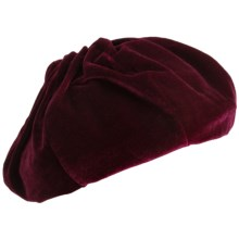 Betmar Nadia Velvet Beret (For Women) in Bordeaux - Closeouts