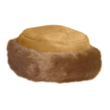 Betmar Nordic Princess Hat - Faux Fur (For Women) in Pecan