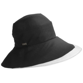 Betmar Pastoral Romance Delphinium Hat - UPF 50+ (For Women) in Black