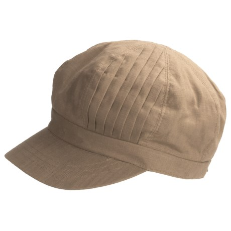 Betmar Pleated-Crown Cap (For Women) in Rosebloom Pink