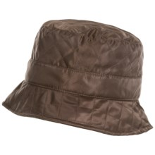 Betmar Quilted Bucket Hat - Fleece Lined (For Women) in Chocolate - Overstock