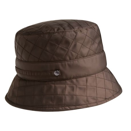 c2598df4cec9c Betmar Quilted Bucket Hat (For Women) in Chocolate