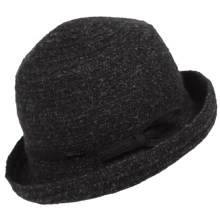 Betmar Sara Braid Upturn Hat (For Women) in Charcoal Multi - Closeouts