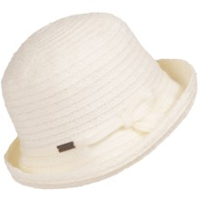 Betmar Sara Braid Upturn Hat (For Women) in Ivory - Closeouts