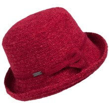 Betmar Sara Braid Upturn Hat (For Women) in True Red - Closeouts