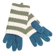 Betmar Striped Convertible Gloves (For Women) in Blue/Green/White - Closeouts