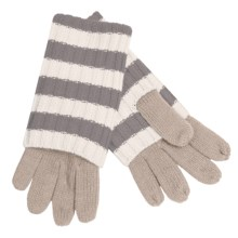 Betmar Striped Convertible Gloves (For Women) in Camel/Grey/White - Closeouts