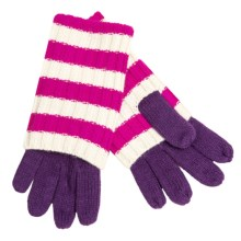 Betmar Striped Convertible Gloves (For Women) in Purple/Fuchsia/White - Closeouts