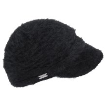 Betmar Suzanne Angora Knit Cap (For Women) in Black - Closeouts