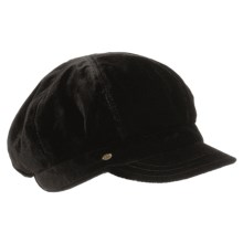 Betmar Velvet Newsboy Cap (For Women) in Black - Closeouts