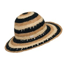 Betmar Violet Sun Hat (For Women) in Black Multi - Closeouts
