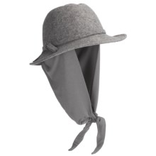 Betmar Wrap Hat - Boiled Wool, Attached Scarf (For Women) in Charcoal - Closeouts