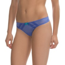 Betsey Johnson Intimates Mesh Thong Panties (For Women) in Indie Blue - Closeouts