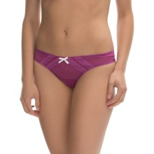 Betsey Johnson Intimates Mesh Thong Panties (For Women) in Vixen Violet - Closeouts