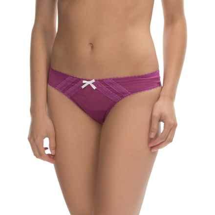Betsey Johnson Intimates Mesh Thong Panties (For Women) in Vixen Violet - Closeouts