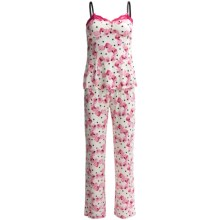 Betsey Johnson Slinky Knit Pajamas - Spaghetti Straps (For Women) in Frills And Thrills Suzy Snow - Closeouts