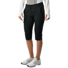 Bette & Court High Side Pinstripe Shorts (For Women) in Black - Closeouts