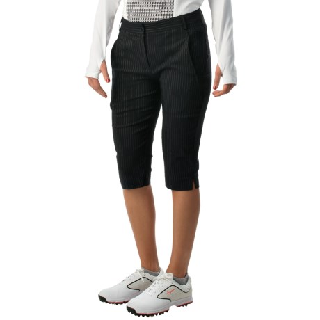 Bette and Court High Side Pinstripe Shorts (For Women)
